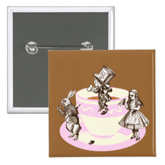 A Mad Tea Party Pinback Buttons