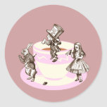 A Mad Tea Party Classic Round Sticker
