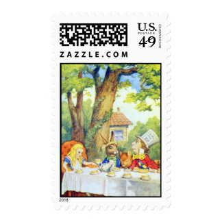 A Mad Tea Party Full Color Stamp
