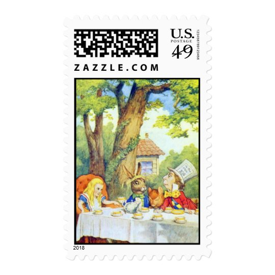 A Mad Tea Party Full Color Postage