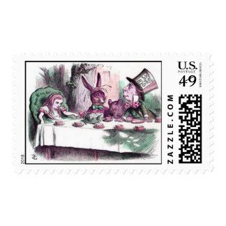 A Mad Tea Party in Pastels Postage
