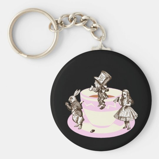 A Mad Tea Party Keychain