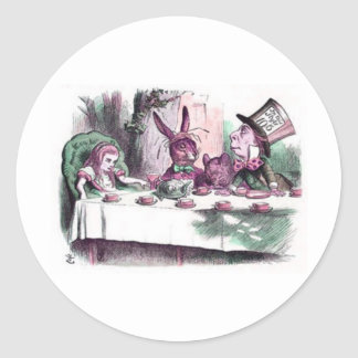 A Mad Tea Party Pastels Classic Round Sticker