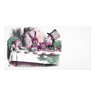 A Mad Tea Party Pastels Custom Photo Card