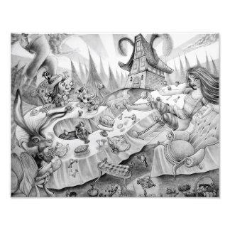 A mad tea-party Photographic Print Fotografía