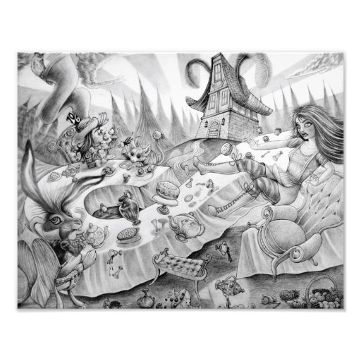 """A mad tea-party"" Photographic Print Fotografía"