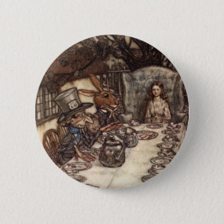 A Mad Tea Party Pinback Button