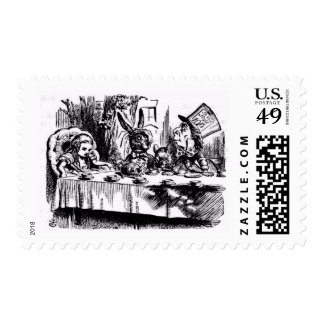 A MAD TEA-PARTY POSTAGE STAMP