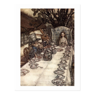 A Mad Tea-Party Postcard