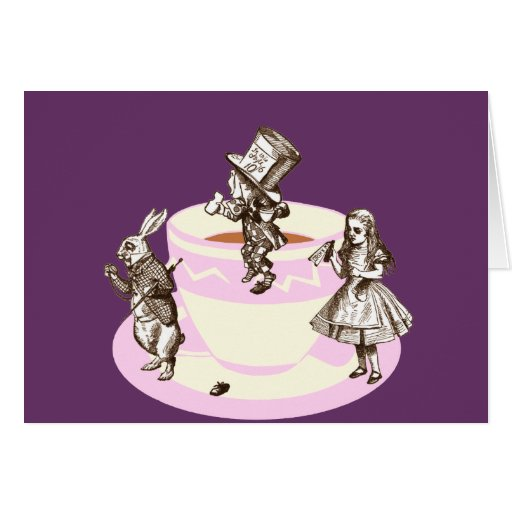 A Mad Tea Party Stationery Note Card
