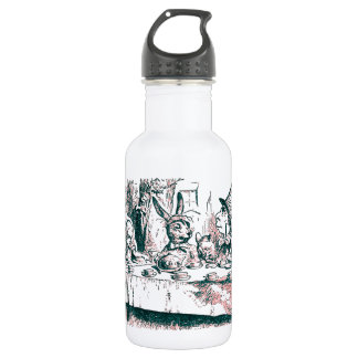 A Mad Tea Party Tenniel Pink Tint Water Bottle