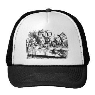 A mad tea party trucker hat