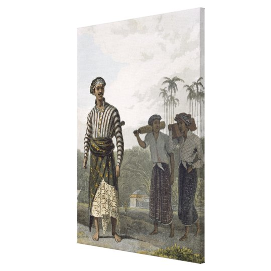 A Madurese of the Rank of Mantu, plate 7 from Vol Canvas Print