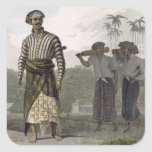 A Madurese of the Rank of Mantu, plate 7 from Vol Square Sticker