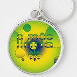 A Mãe Linda Brazil Flag Colors Pop Art Key Chains