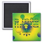 A Mãe Linda Brazil Flag Colors Pop Art Magnets