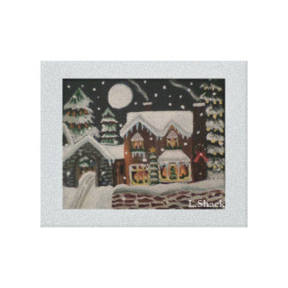 A Magical Christmas Night/ Christmas House Canvas Print