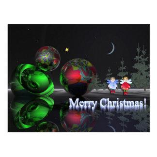 A magical christmas night postcard