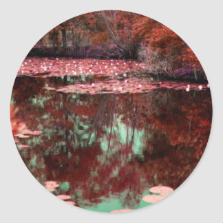 A Magical Landscape Classic Round Sticker