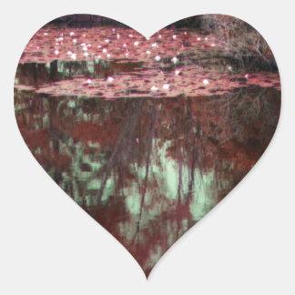 A Magical Landscape Heart Sticker