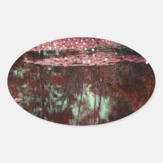 A Magical Landscape Oval Sticker