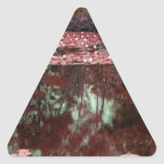 A Magical Landscape Triangle Sticker