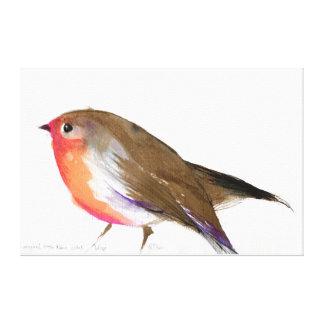 A magical little robin called Wisp 2011 Canvas Print