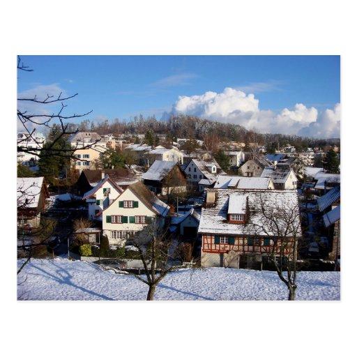 A magical Winter Village Postcards