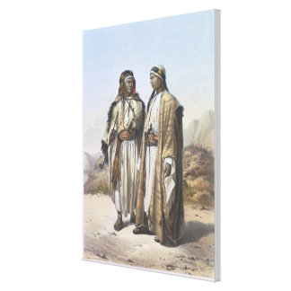 A Mahazi and a Soualeh Bedouin, illustration from Canvas Print