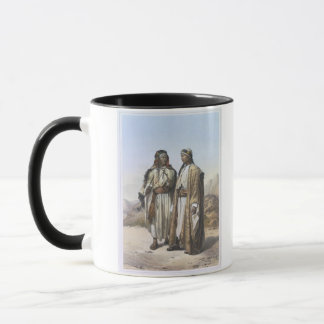 A Mahazi and a Soualeh Bedouin, illustration from Mug