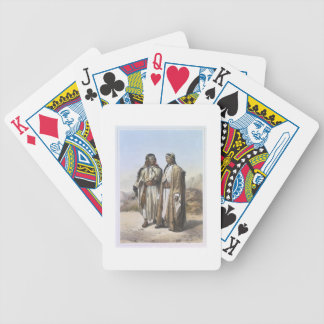 A Mahazi and a Soualeh Bedouin, illustration from Bicycle Poker Deck