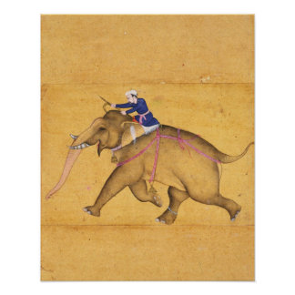 A Mahout riding an Elephant, from the Large Clive Poster