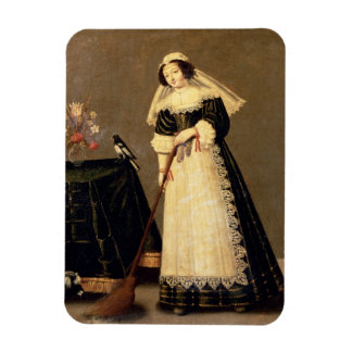 A Maid with a Broom Magnet