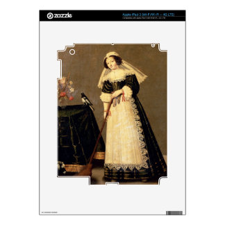 A Maid with a Broom Skins For iPad 3