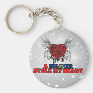 A Mainer Stole my Heart Key Chain