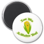 A Maize-ing Corn 2 Inch Round Magnet