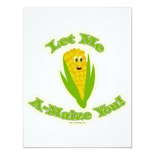 A Maize-ing Corn 4.25x5.5 Paper Invitation Card