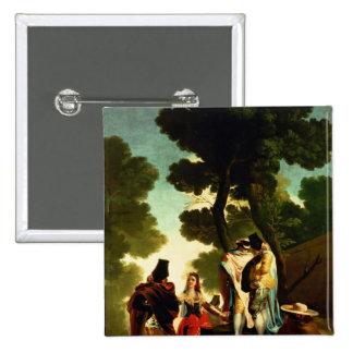 A Maja and Gallants, 1777 Pinback Button