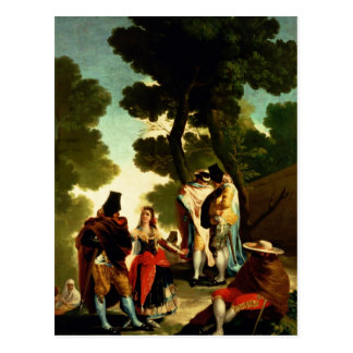 A Maja and Gallants, 1777 Postcard