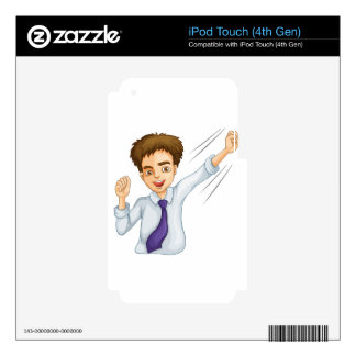 A male business icon iPod touch 4G decal
