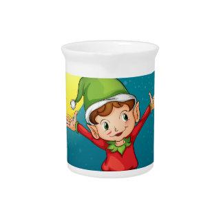 A male elf beverage pitcher