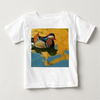 A Male Mandarin Duck Aix Galericulata At Sunset Baby T-Shirt