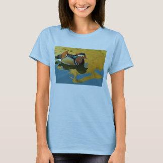 A Male Mandarin Duck Aix Galericulata At Sunset T-Shirt