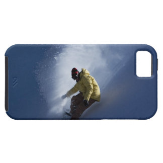 A male snowboarder catches last light on a iPhone SE/5/5s case