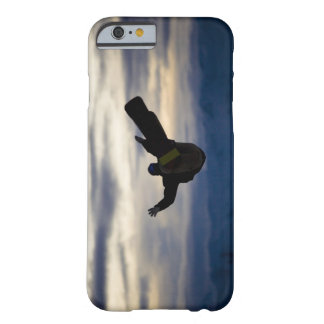 A male snowboarder does a back flip while riding barely there iPhone 6 case