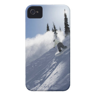 A male snowboarder ripping powder in Idaho. iPhone 4 Cover