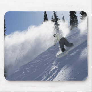 A male snowboarder ripping powder in Idaho. Mouse Pad