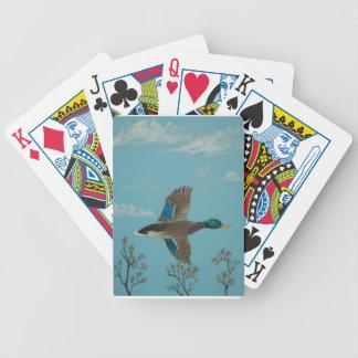 a mallard duck bicycle card deck