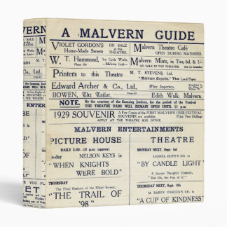 A Malvern Guide 3 Ring Binder