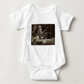 A man and his Guitar. Baby Bodysuit